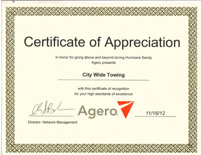 Automotive awards nyc nyc tire and auto care for Recognition of service certificate template